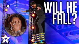 DANGEROUS heights Jonathan Rinny on America's Got Talent 2017