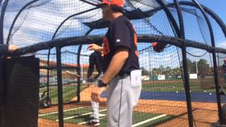 Detroit Tigers take batting practice before game vs. Astros