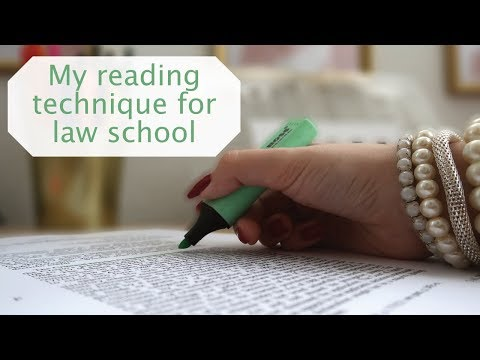 HOW TO READ LEGAL CASES | MY READING TECHNIQUE FOR LAW SCHOOL