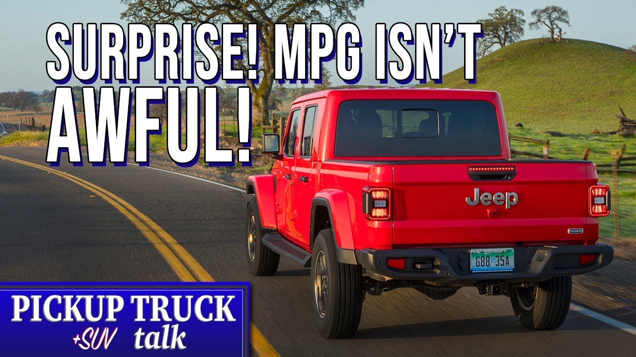 2020 Jeep Gladiator Mpg Numbers Comparison Surprise Youtube