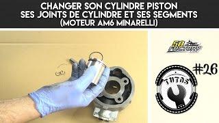TUTO #26 - CHANGER SON CYLINDRE PISTON, SES JOINTS DE CYLINDRE ET SES SEGMENTS (AM6 MINARELLI)