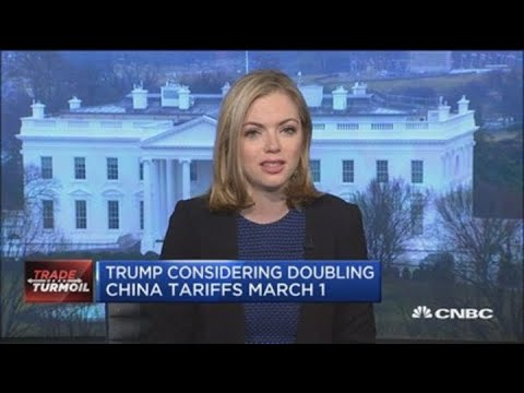 President Trump considering doubling China tariffs on March 1 Mp3