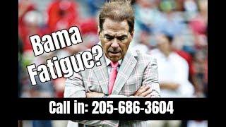 Has fatigue set in with Alabama Crimson Tide Football fans?