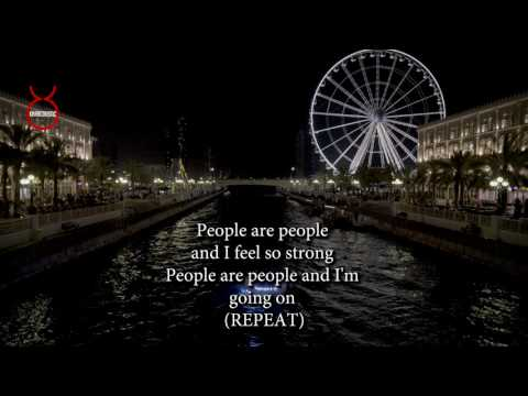 People are People by D Sound Acoustic Guitar Backing Track | Acoustic Karaoke