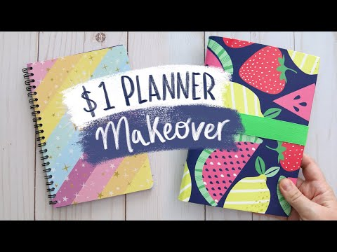 Dollar Store Planner Makeover 🍉 Sea Lemon