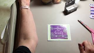 Trash to Treasure: Handmade Cards from beauty box inserts.