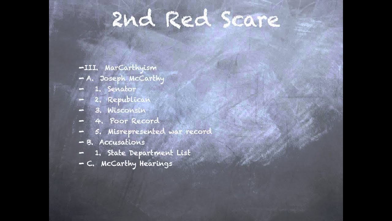 the second red scare essay Custom essay writing service question description the following questions below need to be answered separately in a 4 paragraph mode 4 sentences minimum to each paragraph please give detailed and extensive responses 1describe the second red scare and the role of us senator joseph mccarthy.