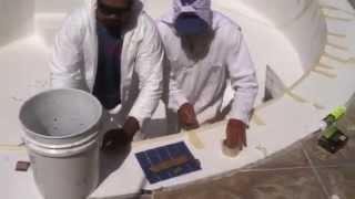 Adding tile work to Aqua-Glass pool