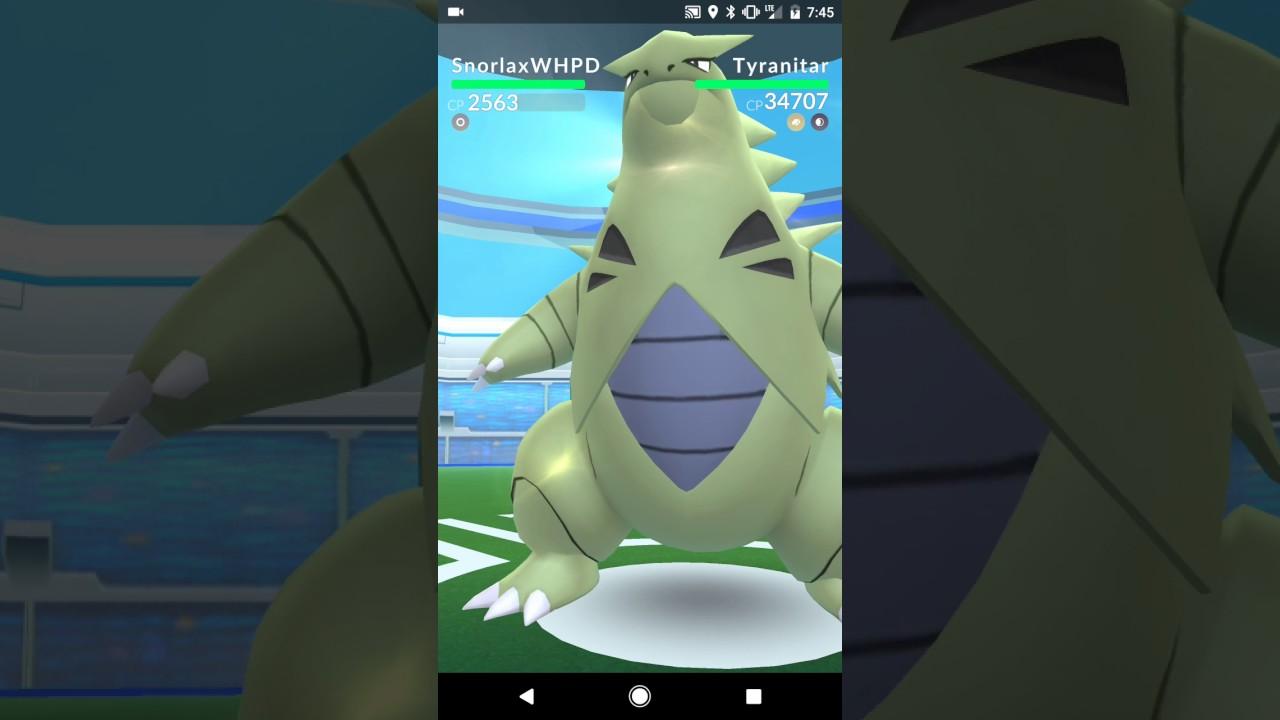 TYRANITAR BOSS RAID BATTLE POKEMON GO | Pokemon Go