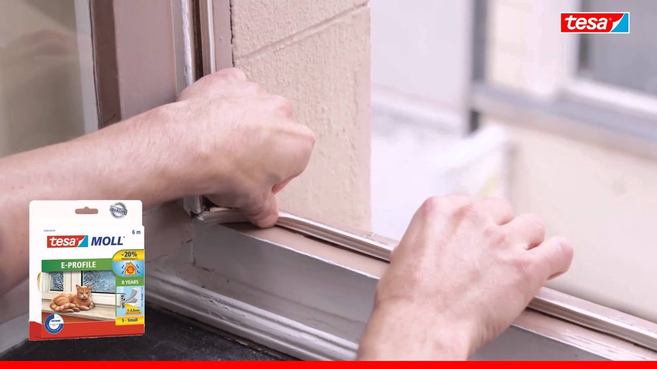 tesamoll Gummidichtung für Fenster und Türen, weiß, CLASSIC, E-Profil