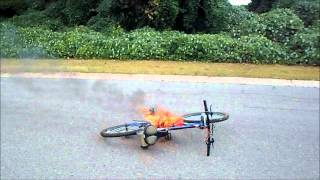 epic e-bike FAIL 96v volt electric bike death by fire RAW video 50,000 watts