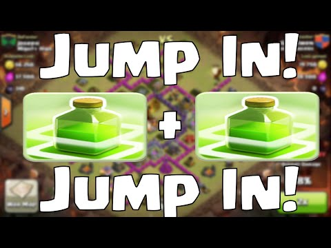 Clash Of Clans Jump Spell Attack Strategy - (Jump In Jump In)