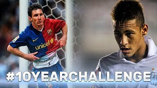 #10yearchallenge ● Footballers in 2009-2019 ● Ronaldo, Messi, Neymar and other
