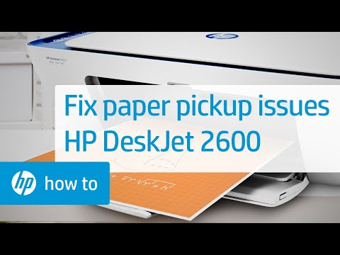 Fixing the HP DeskJet 2600 All-in-One Printer When It Does Not Pick Up Paper | HP DeskJet | HP