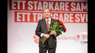 Stefan Löfvens tal under valnatten 2018