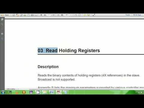 7 Modbus RTU Protocol Read Holding Example 1 - YouTube