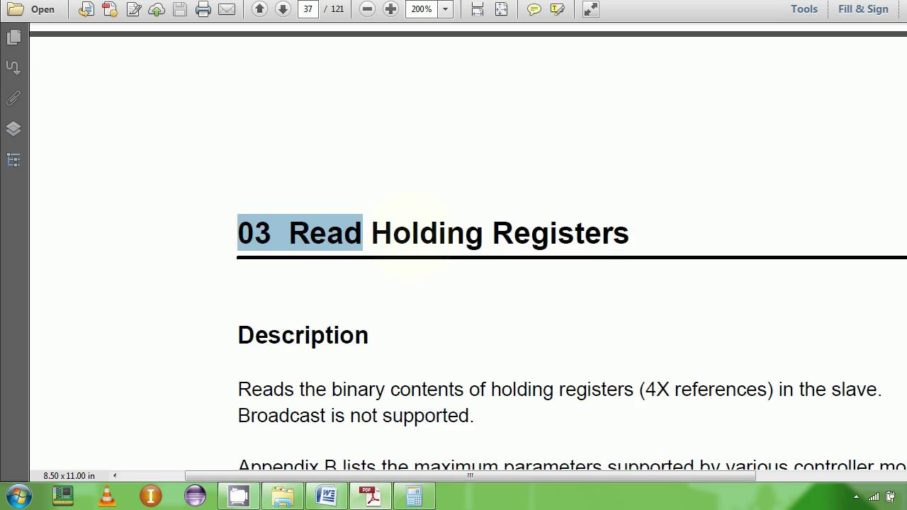 7 Modbus RTU Protocol Read Holding Example 1