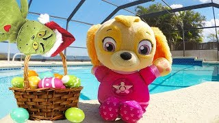 Paw Patrol Skye Swimming Pool Adventure with The Easter Bunny