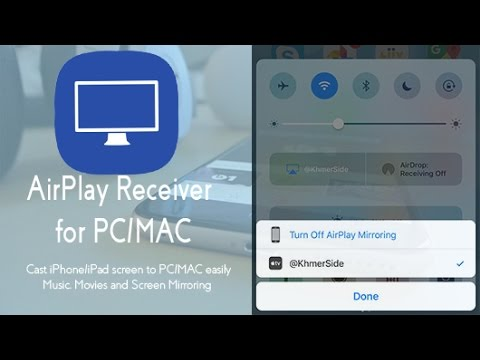 How to Cast iPhone, iPad screen to Your Desktop using LonelyScreen -  AirPlay Receiver for PC, MAC