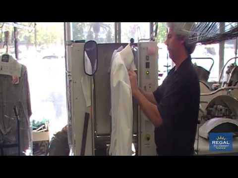 Regal Dry Cleaners - Business Shirt Pressing Demonstration
