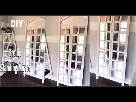 HOW TO MAKE A EASY TRELLIS STANDING MIRROR ✨