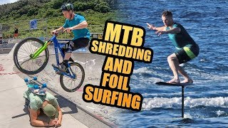 EPIC DAY IN HAWAII - MTB SHREDDING AND FOIL SURFING