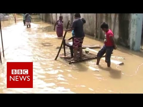 Sri Lanka floods: Residents afraid as more rain forecast - BBC News
