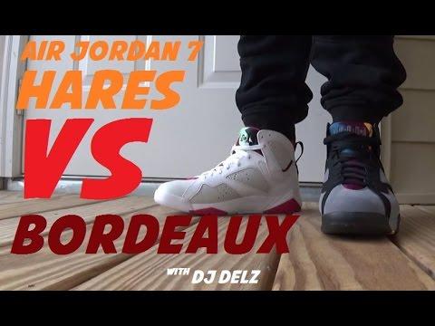 Air Jordan 7 Bordeaux VS Hare Sneakers #PickOne With @DjDelz