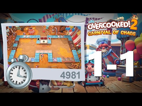 Overcooked 2 Carnival of Chaos Level 1-1 (Survival Mode) |