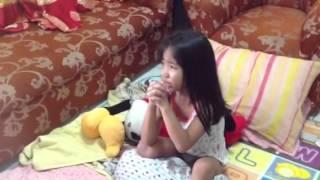 6 YEAR OLD PRAYING FOR TYPHOON YOLANDA TO STOP
