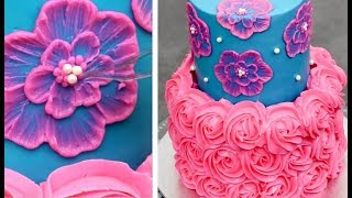 Quick & Easy Cakes Decorating Ideas   Buttercream Cake Tutorial