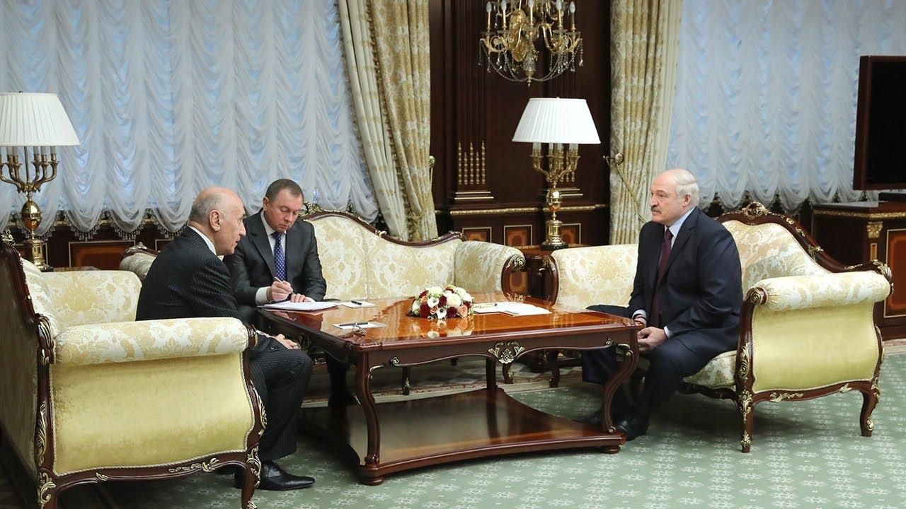 Встреча Александра Лукашенко с послом Узбекистана Насирджаном Юсуповым
