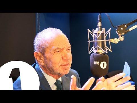 Greg suggests autobiography puns to Lord Alan Sugar