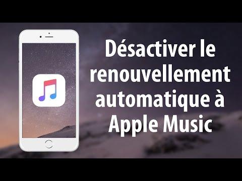 Désactiver le renouvellement automatique de l'abonnement Apple Music sur iPhone ou iPad