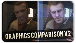 GTA IV Graphics Comparison v2 - Niko & Vlad [Original Graphic vs CryENB V3]