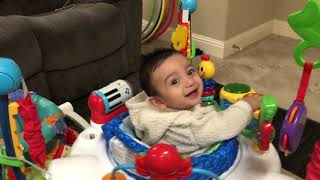 Adorable Reaction to Baby Einstein Symphony Jumper