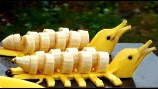 How to Make Banana Decoration | Banana Art | Fruit Carving BANANAS in LOVE?
