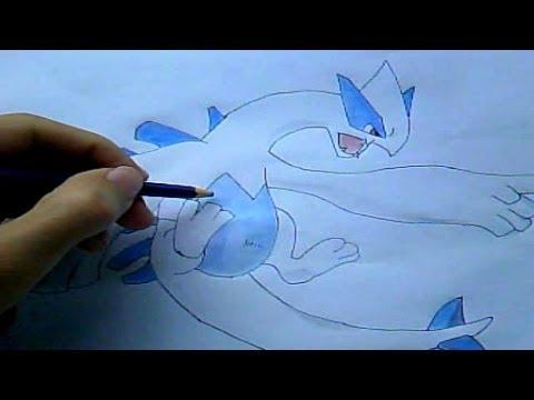 Como Desenhar Lugia Pokemon Desenha Facil Youtube