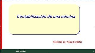 ( 8 ) contabilización de una nómina