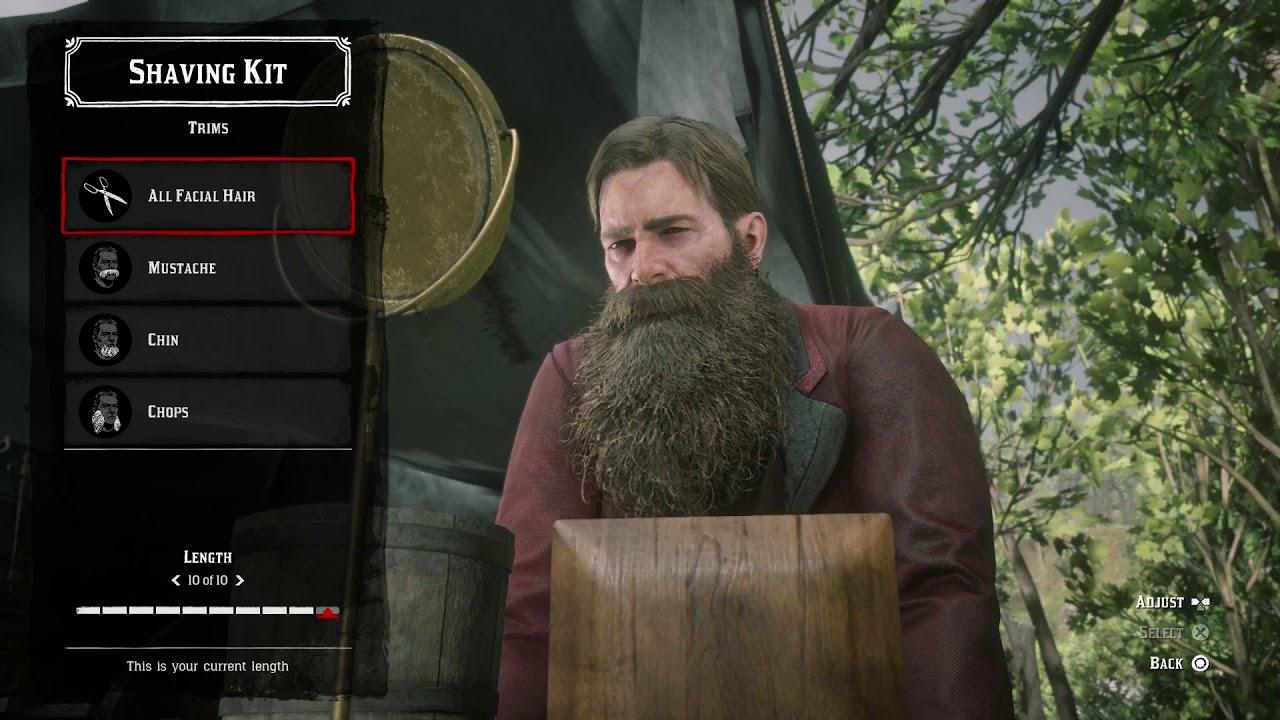 Beard Lengths , Arthur Morgan , RDR2