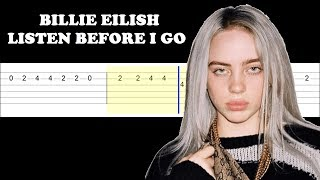 Billie Eilish Listen Before I Go Easy Guitar Tabs Tutorial