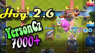 ???? YersonCz ???? 7000+ Hog cycle 2.6  gameplays Ladder Pushing - Clash Royale