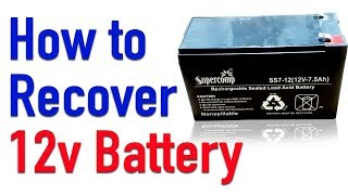 How to Recover 12v Battery