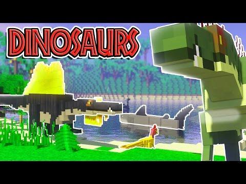 DINOSAURS IN MINECRAFT?!   Minecraft Mods