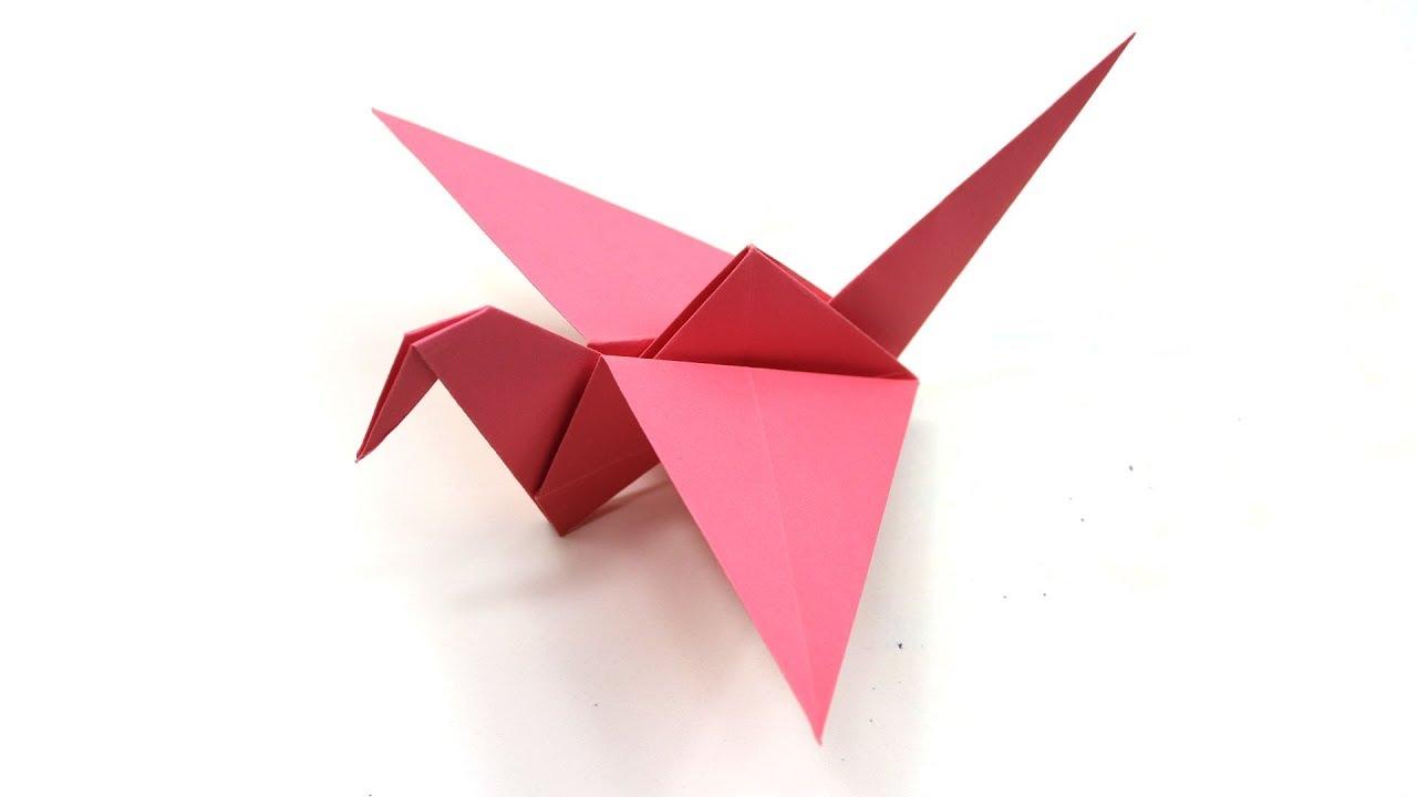 Origami Flapping Bird | Origami flapping bird, Origami bird ... | 720x1280