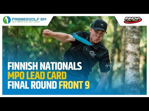Finnish Nationals 2018 MPO Final Round Lead Card, Front 9