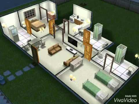 Ideias de casas para the sims freeplay youtube for Casa de diseno the sims freeplay