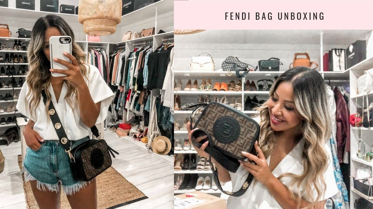 22afa1cbdc47 FENDI CAMERA BAG UNBOXING AND REVIEW