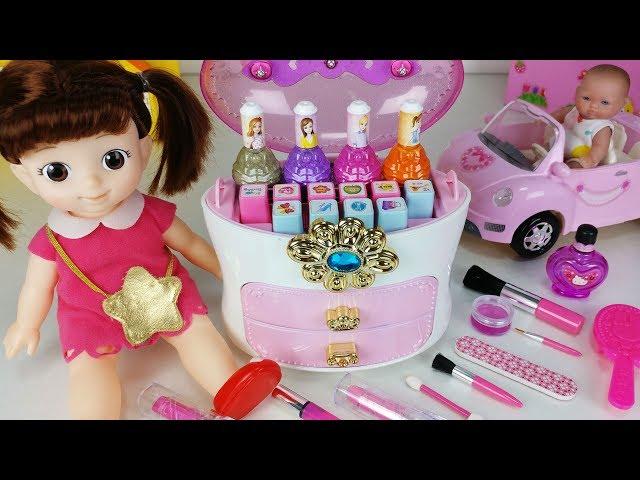 콩순이 시크릿쥬쥬 공주 도장 꾸미기 매니큐어 아기인형 장난감놀이 Baby Doll Make up and nail art toys play