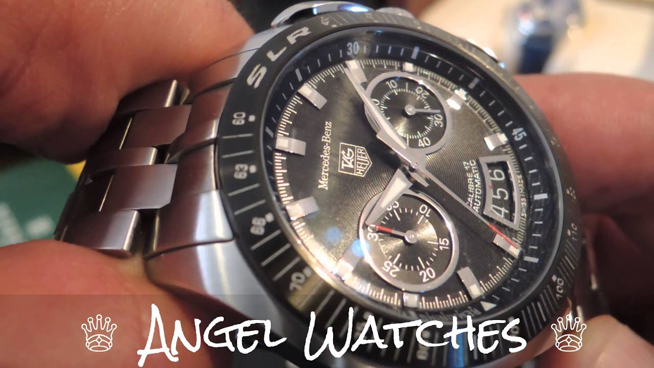 324f0ef8678 TAG Heuer SLR Mercedes Benz Limited Edition Chronograph - YouTube